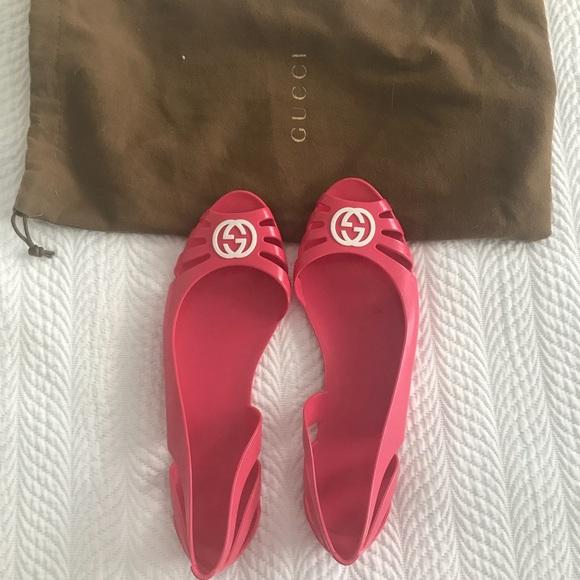 e8b6d0e0b17fb Gucci Shoes - Gucci Marola jelly flats . SZ 7